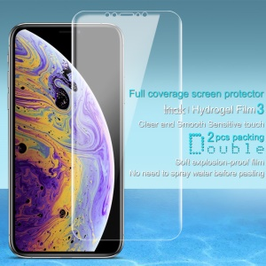 2Pcs/Set IMAK Hydrogel Film 3 for iPhone XS Max 6.5 inch Soft Explosion-proof Film Full Coverage Screen Protector