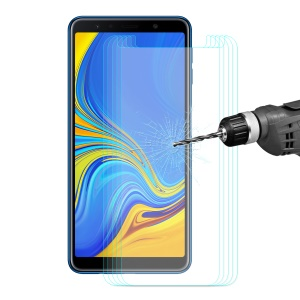 5PCS ENKAY 0.26mm 9H 2.5D Arc Edge Anti-scratch Tempered Glass Screen Protectors for Samsung Galaxy A7 (2018)