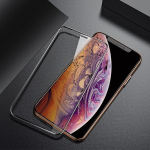 BENKS for iPhone XS Max 6.5 inch X Pro+ Ultra Clear Curved Tempered Glass Protector [0.23mm] [Full Screen Covering]