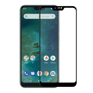 HAT PRINCE for Xiaomi Mi A2 Lite / Redmi 6 Pro 0.26mm 9H 6D Curved Full Size Tempered Glass Screen Protector - Black
