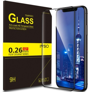 IVSO Anti-crack HD 0.26mm 9H Full Covered 3D Tempered Glass Screen Protector for iPhone XR 6.1 inch - Black