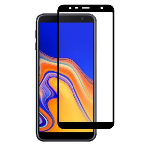 HAT PRINCE Full Glue Full Size Tempered Glass Screen Protector for Samsung Galaxy J4+ / J6+ 0.26mm 9H 2.5D Arc Edge