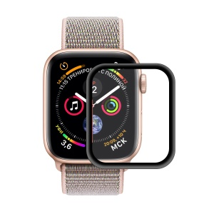 HAT PRINCE for Apple Watch Series 4 40mm 0.2mm 9H 3D Aluminum Alloy Edge Tempered Glass Protector [Full Covering] [Anti-scratch]