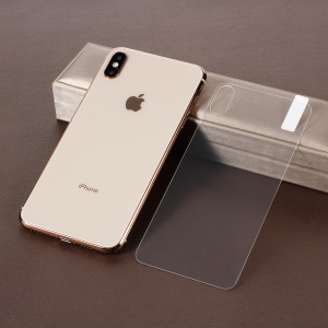 Anti-explosion Tempered Glass Back Film 2.5D Arc Edges for iPhone XS Max 6.5 inch