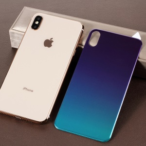 RURIHAI [Gradient Color] Soft PET [3D Curved] Back Cover Protective Film for iPhone XS Max 6.5 inch - Blue