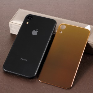 RURIHAI for iPhone XR 6.1 inch Soft PET Back Cover Guard Film [Gradient Color] [3D Curved] - Gold