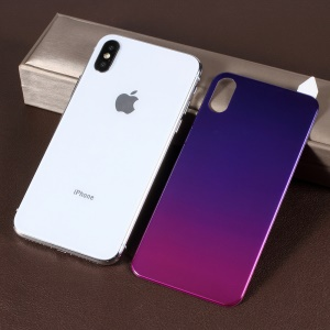 RURIHAI [Gradient Color] Soft PET [3D Curved] Back Cover Protector for iPhone XS / X 5.8 inch - Purple