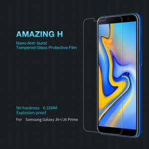 NILLKIN Amazing H Tempered Glass Back Cover Protector Film Anti-explosion Samsung Galaxy J6 Prime/J6+