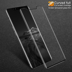 IMAK 3D Curved Full Cover Tempered Glass Screen Protector Film for Huawei Mate 20 Pro - Black