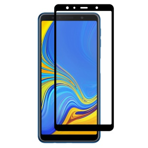 HAT PRINCE Full Glue Full Size 0.26mm 9H 2.5D Arc Edge Tempered Glass Screen Protector for Samsung Galaxy A7 (2018)