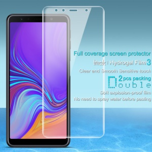 2Pcs/Set IMAK Hydrogel Film 3 for Samsung Galaxy A7 (2018) [Full Coverage] [Clear and Smooth Sensitive Touch]