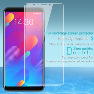 2Pcs/Set IMAK Hydrogel Film 3 [Full Screen Covering] [Clear and Smooth Sensitive Touch] for Meizu V8 Pro / V8
