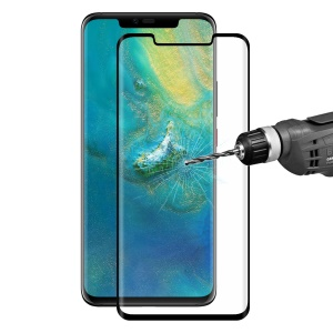 HAT PRINCE for Huawei Mate 20 Pro 3D Full Size Tempered Glass Screen Protector Guard 0.26mm - Black