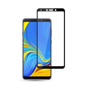 MOCOLO Silk Print Arc Edge Full Coverage Tempered Glass Screen Protector for Samsung Galaxy A9 (2018) / A9 Star Pro / A9s - Black