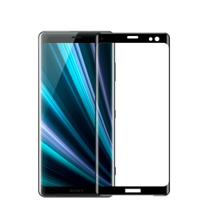 MOFI 3D Curved Tempered Glass Complete Covering Screen Protector for Sony Xperia XZ3 - Black