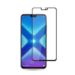 MOCOLO Silk Print Arc Edge Full Coverage Tempered Glass Screen Protector for Huawei Honor 8X - Black