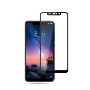 MOCOLO for Xiaomi Redmi Note 6 Pro Silk Print Full Size Tempered Glass Screen Protector - Black