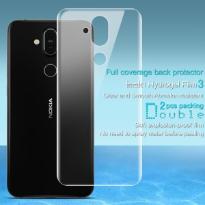 2Pcs/Set IMAK Hydrogel Film 3 for Nokia 7.1 Plus / X7 Back Protector [Ultra Clear] [Full Coverage] [Explosion-proof]