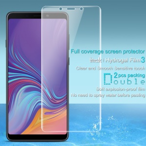 2Pcs/Set IMAK Hydrogel Film 3 [Clear and Smooth Sensitive Touch] Full Screen Guard Film for Samsung Galaxy A9 (2018) / A9 Star Pro / A9s