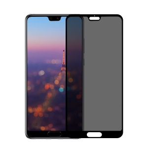 BASEUS 0.3mm Privacy Curved Tempered Glass Full Screen Protector for Huawei P20 - Black
