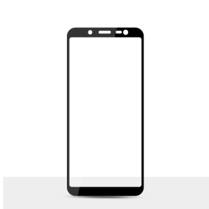 MOCOLO Silk Print Arc Edge Full Coverage 9H Tempered Glass Screen Protector for Samsung Galaxy J6 (2018) - Black