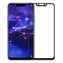 AMORUS for Huawei Mate 20 Lite 9H Silk Printing Full Size Tempered Glass Anti-explosion Screen Protective Film  [Full Glue] - Black