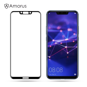 AMORUS 3D Curved Anti-explosion Tempered Glass Full Screen Shield for Huawei Mate 20 Lite / Maimang 7 - Black