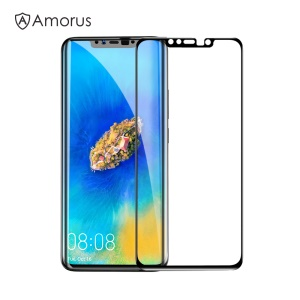 AMORUS 3D Curved Tempered Glass Anti-explosion Full Screen Protection Film for Huawei Mate 20 Pro - Black