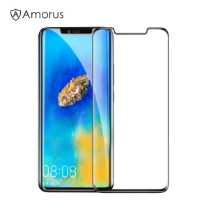 AMORUS for Huawei Mate 20 Pro 3D Curved Tempered Glass Full Screen Covering Protector (Scaled-Down Version) - Black