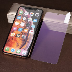 RURIHAI for iPhone XS Max 6.5 inch [Mirror] 0.26mm 2.5D Full Cover High Aluminum Silicone Tempered Glass Screen Protective Film - Purple