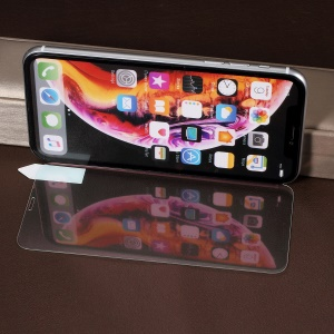 RURIHAI for iPhone XR 6.1 inch [Mirror] 0.26mm 2.5D Full Cover High Aluminum Silicone Tempered Glass Screen Protector - Purple