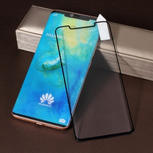 RURIHAI 3D Curved [Full Glue Full Cover] Tempered Glass Screen Protector for Huawei Mate 20 Pro - Black