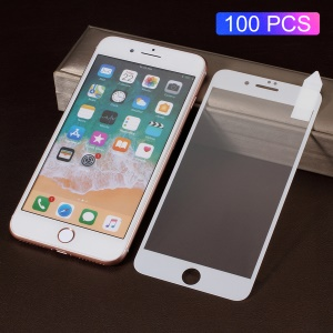 100Pcs/Set RURIHAI [Solid Defense] Tempered Glass Full Screen Guard Film for iPhone 8 Plus / 7 Plus - White