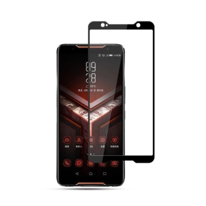 MOCOLO Silk Print Arc Edge Full Coverage Tempered Glass Screen Protector for Asus ROG Phone (ZS600KL) - Black