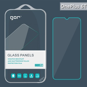 GOR for OnePlus 6T 2.5D Tempered Glass Screen Protector Guard [Anti-glare Anti-scratch]