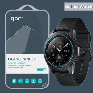GOR 2PCS [0.3mm Corning Glass] for Samsung Galaxy Watch 42mm Tempered Glass Screen Protector Film