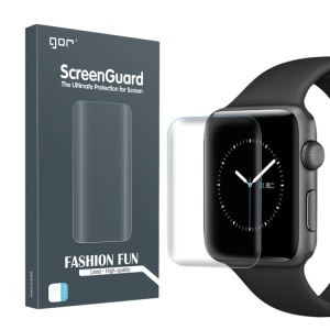 GOR 2PCS 3D Curved Full Cover Soft TPU Screen Protector Films for Apple Watch Series 4 44mm