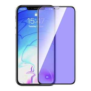 DEVIA Real Series for iPhone XR 6.1 inch Anti-Blue-Ray Full Coverage Tempered Glass Screen Protector Film - Black