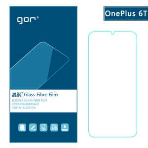 GOR [2PCS] for OnePlus 6T Flexible Glass Fibre Films LCD Screen Protector [Anti-explosion / 2.5D Arc Edge]