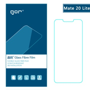 GOR [2PCS] for Huawei Mate 20 Lite Flexible Glass Fibre Films Screen Protector [Anti-explosion / 2.5D Arc Edge]
