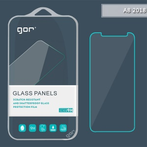 GOR for Samsung Galaxy A8 (2018) Tempered Glass Screen Protector Film 0.2mm Arc Edge