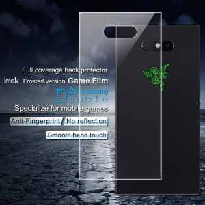 2PCS IMAK Frosted Version Game Film for Razer Phone 2 [Full Coverage] Hydrogel Back Protector Film