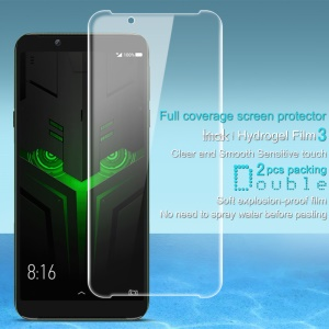 2Pcs/Set IMAK Hydrogel Film 3 for Xiaomi Black Shark Helo [Clear and Smooth Sensitive Touch] Full Size Screen Protector