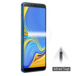 HAT PRINCE 0.1mm 3D Soft Film [Self-repair Scratches] [Full Screen Covering] for Samsung Galaxy A7 (2018)