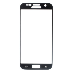 Tempered Glass Screen Protector for Samsung Galaxy S7 G930 Silk Print Full Size - Black