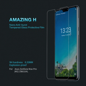 NILLKIN Amazing H 9H 0.33mm Anti-explosion Tempered Glass Screen Protector for Asus Zenfone Max Pro (M2) ZB631KL