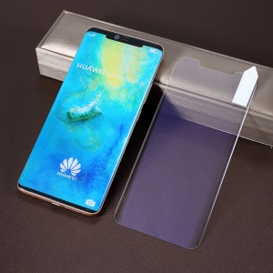 RURIHAI for Huawei Mate 20 Pro [Purple-Light] 3D Full Glue UV Liquid Complete Covering Tempered Glass Screen Protection Film (Works with UV Lamp: 109901251)