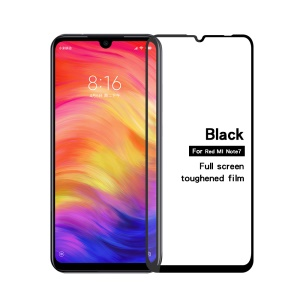 MOFI Full Covering Tempered Glass Screen Protector Film for Xiaomi Redmi Note 7 - Black