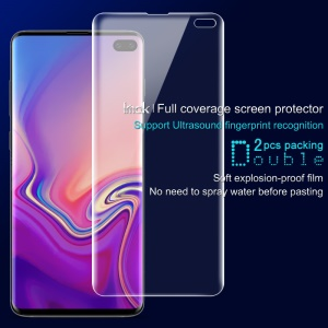 IMAK UT-1 2Pcs Clear Front Full Cover Phone Screen Protector for Samsung Galaxy S10 Plus [Support Ultrasonic Fingerprint Unlock]