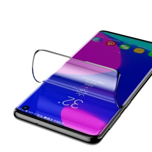 2Pcs/Pack BASEUS 0.15mm Soft PET Anti-explosion Full Curved Screen Protector for Samsung Galaxy S10 [Support Ultrasonic Fingerprint Unlock]